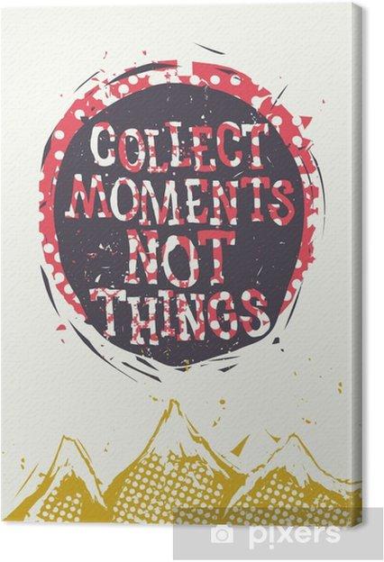 Obraz na płótnie Plakat z krajobrazu górskich i tekstury folwark - Biznes