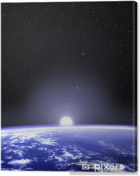Obraz na płótnie Planeta Ziemia widziana z przestrzeni - Niebo
