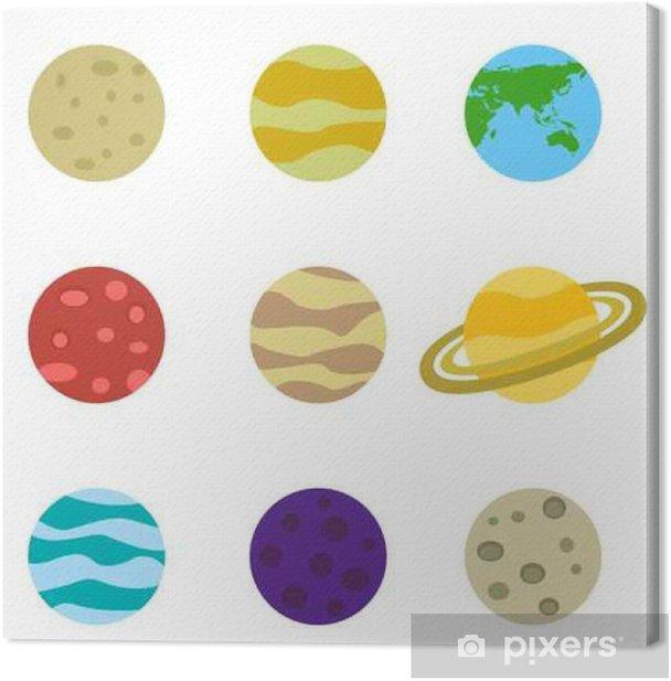 Obraz na płótnie Planety kolorowe wektor zestaw ikon - Zasoby graficzne
