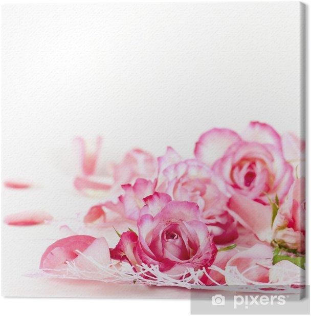 Obraz na płótnie Płatki róż - Szczęście
