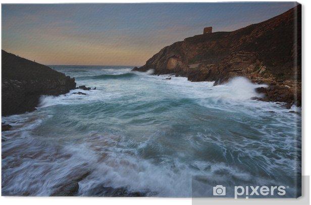 Obraz na płótnie Playa de Santa Justa (Kantabria) - Wakacje