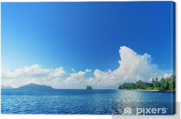 Obraz na płótnie Plaża na wyspie La Digue, seychellas - Woda