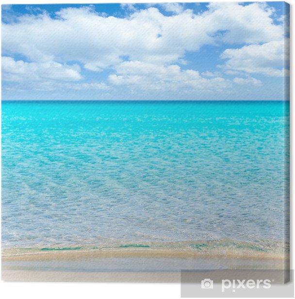 Obraz na płótnie Plaża tropikalnych z białym piaskiem i turkusową wate - Wakacje