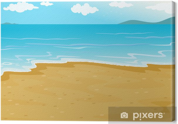 Obraz na płótnie Plaża - Niebo