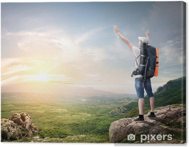 Obraz na płótnie Plecak turystyczny - Europa