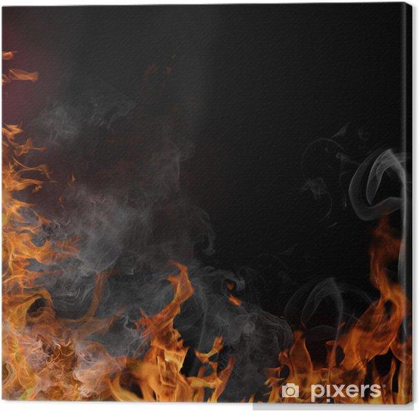Obraz na płótnie Płomienie ognia - Tekstury