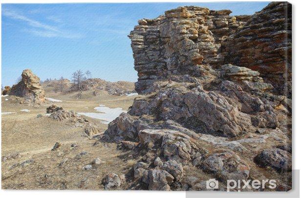 Obraz na płótnie Pluszowe Skały w pobliżu jeziora Bajkał - Góry