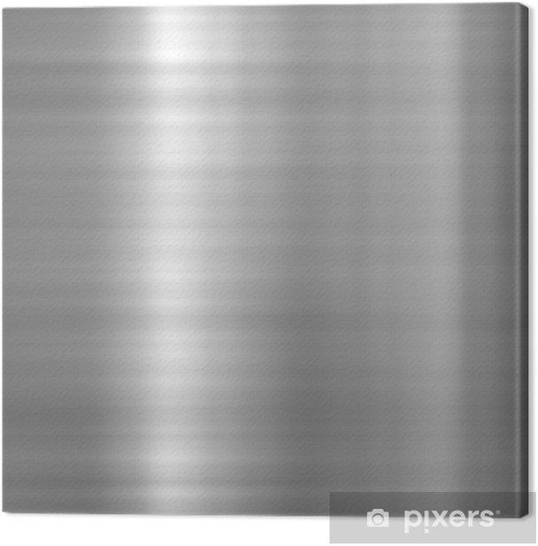 Obraz na płótnie Płyta metalowe szczotkowane aluminium - Surowce