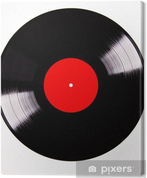 Obraz na płótnie Płyta winylowa na białym tle - Muzyka