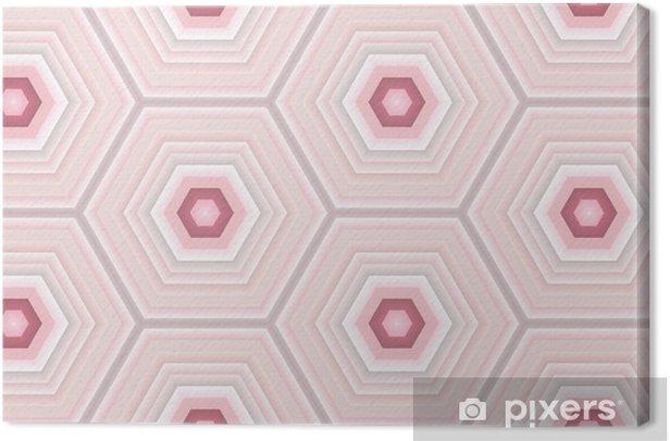 Obraz na płótnie Płytka sześciokątna różowy - Tła