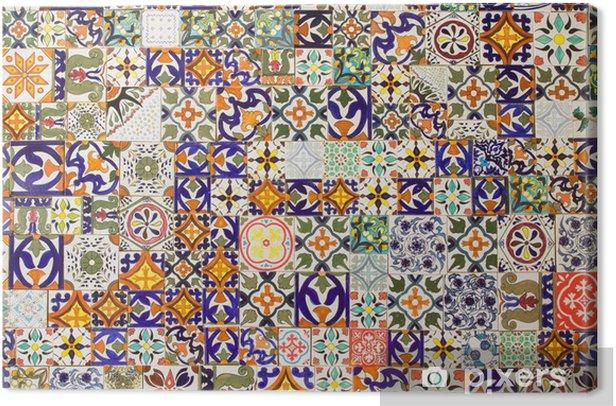 Obraz na płótnie Płytki ceramiczne wzory - Płytki