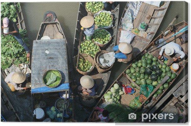 Obraz na płótnie Pływające rynku owoców i warzyw - Sprzedaż