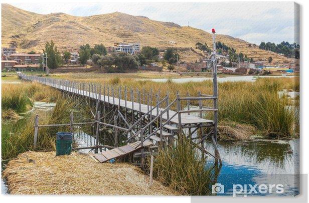 Obraz na płótnie Pływające wyspy na jeziorze Titicaca Puno, Peru, Ameryka Południowa - Ameryka