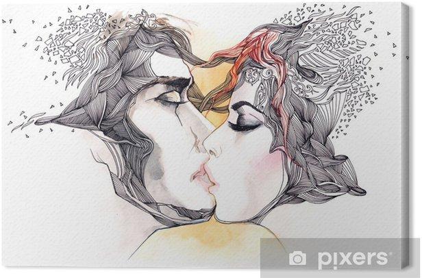 Obraz na płótnie Pocałunek - Tematy