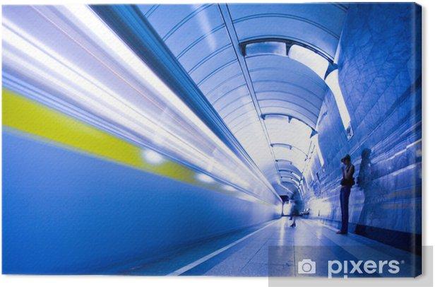 Obraz na płótnie Pociągu na peronie w metrze i tłum ludzi - Tematy