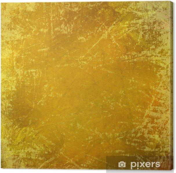 Obraz na płótnie Podrapał grungy żółtym tle - Tła