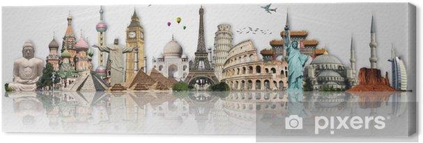 Obraz na płótnie Podróżować koncepcję zabytki świata - Tematy