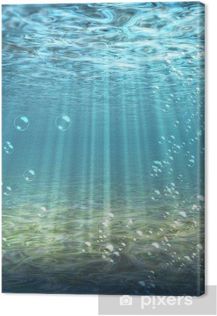 Obraz na płótnie Podwodny, woda, na dole, dno morskie, ocean, niebieski - Morze i ocean