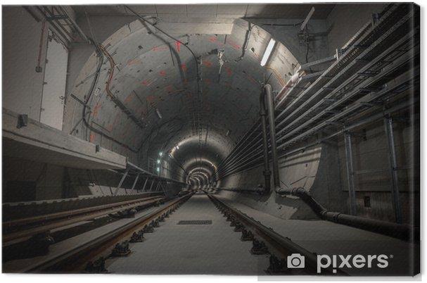 Obraz na płótnie Podziemny tunel metra - Tematy