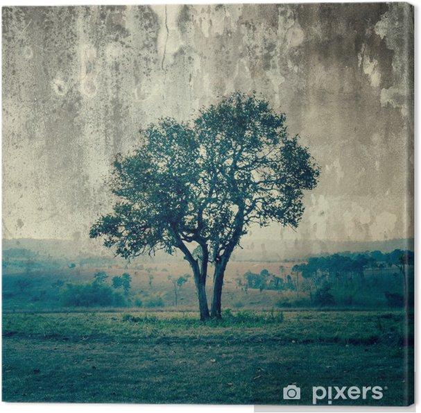 Obraz na płótnie Pojedyncze drzewa reprezentują samotność i smutek - Style