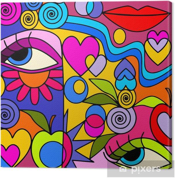 Obraz na płótnie Połączenie kolorów - Inne uczucia