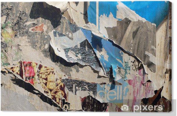 Obraz na płótnie Połamane plakaty - Sztuka i twórczość