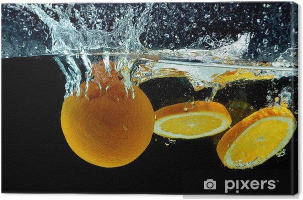 Obraz na płótnie Pomarańczowy Splash Owoce w wodzie - Przeznaczenia