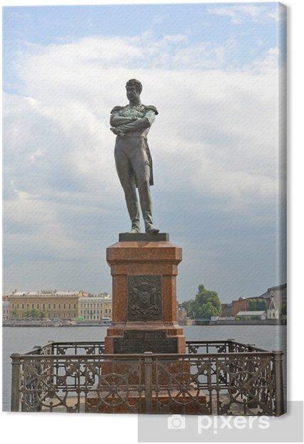 Obraz na płótnie Pomnik admirała i.f. Krusenstern w ul. Petersburg - Azja