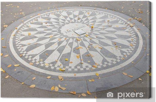 Obraz na płótnie Pomnik Johna Lennona, Central Park, Nowy Jork, USA - Miasta amerykańskie