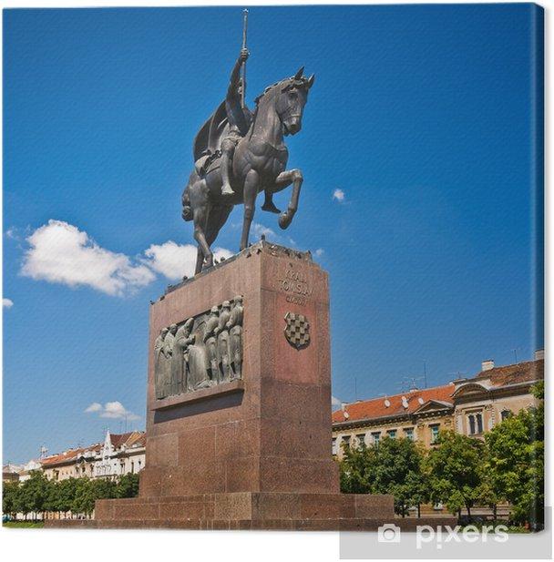 Obraz na płótnie Pomnik króla Tomisława, pierwszy chorwacki król, w Zagrzebiu, Chorwacja - Europa