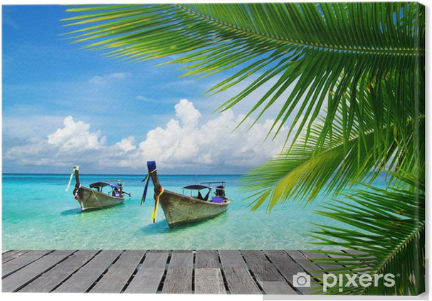 Obraz na płótnie Pomost z widokiem na tropikalne morze - Bestsellery