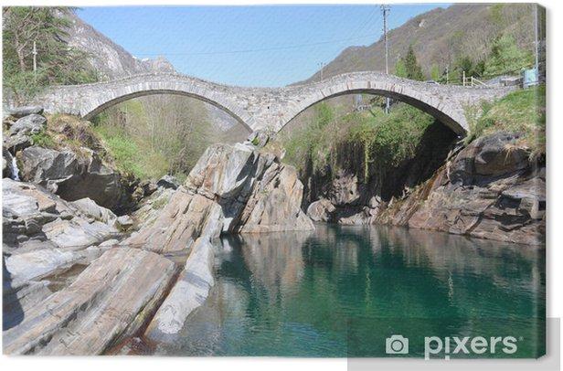 Obraz na płótnie Ponte dei Salti most Lavertezzo, Szwajcaria - Zabytki