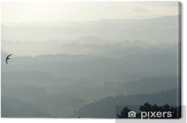 Obraz na płótnie Poranne mgły w Toskanii - Krajobraz wiejski