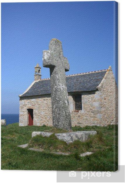 Obraz na płótnie Porspoder, Finistere, cross Brittany, Celtic, kaplica, - Religie