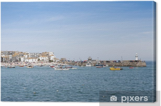 Obraz na płótnie Port St. Ives, Cornwall, Wielka Brytania - Europa