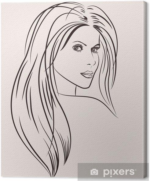 Obraz na płótnie Portret pięknej kobiety - Moda