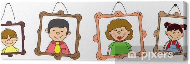 Obraz na płótnie Portrety rodziny, matka, ojciec, córka, syn - Wartości rodzinne