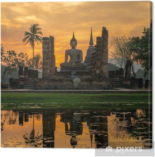 Obraz na płótnie Posąg Buddy w świątyni Wat Mahathat, Sukhothai Historical Park - Style