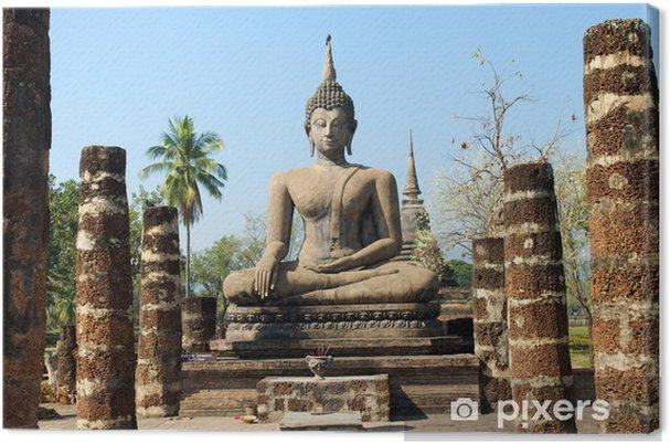 Obraz na płótnie Posąg Buddy, Wat Mahathat Temple w Sukhothai - Azja
