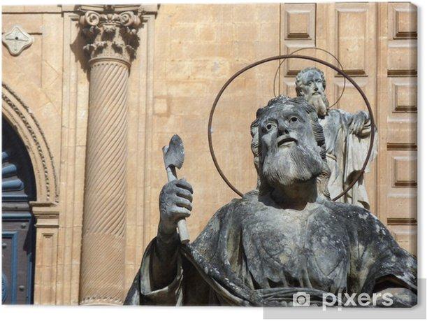 Obraz na płótnie Posągi Apostołów - kościół San Pietro w Modica - Europa