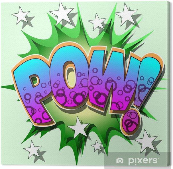 Obraz na płótnie Pow Ilustracja komiksu - Znaki i symbole