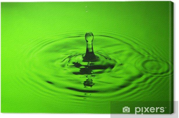 Obraz na płótnie Powitalny wody na zielono - Abstrakcja