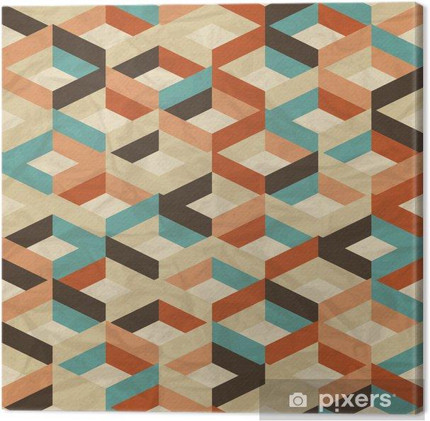 Obraz na płótnie Powtarzalne retro geometryczny wzór. - Style