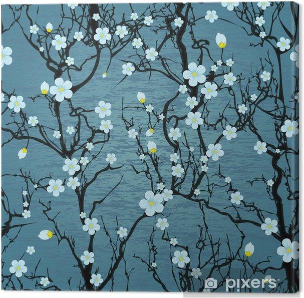 Obraz na płótnie Powtarzalne wzór drzewa. japoński kwiat wiśni - Style