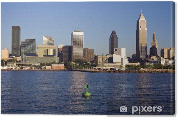 Obraz na płótnie Późnym popołudniem w śródmieściu Cleveland - Pejzaż miejski