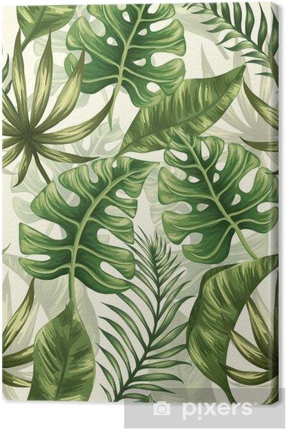 Obraz na płótnie Pozostawia wzór - Rośliny i kwiaty