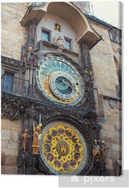 Obraz na płótnie Praski zegar astronomiczny - Praga