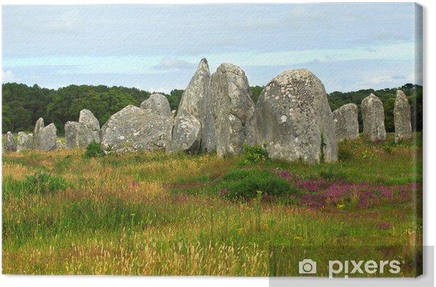 Obraz na płótnie Prehistoric budowli megalitycznych w obszarze Carnac we Francji - Europa