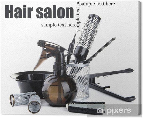 Obraz na płótnie Profesjonalne narzędzia fryzjerskie samodzielnie na białym tle - Części ciała