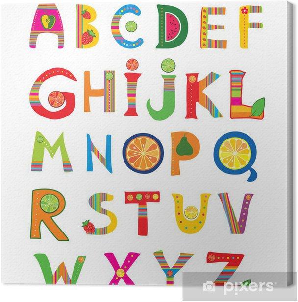 Obraz na płótnie Projekt Alphabet w kolorowym stylu. - Tematy